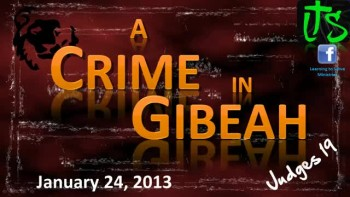 A Crime in Gibeah