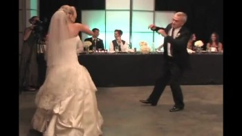 Father and Bride Have The Silliest Wedding Dance That Is Sure to Make You Smile!
