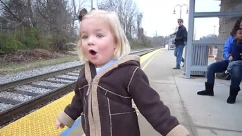 Little Girl Has Delightful Reaction to Riding a Train for the First Time