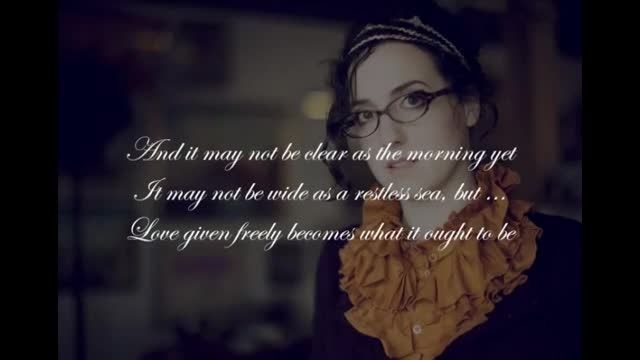 Audrey Assad - Ought To Be (Lyric Slideshow)