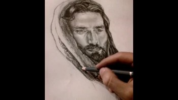 How to draw Jesus Christ - By:Hanna Asfour