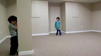 Adorable Kids Playing Hide-and-Seek...Or At Least Trying To! :)
