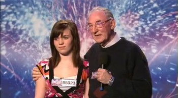 Granddaughter and Granddad Sing a Sweet Disney Song on Britain's Got Talent