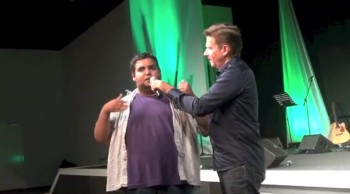 Painful neck and blurred vision miracle healing