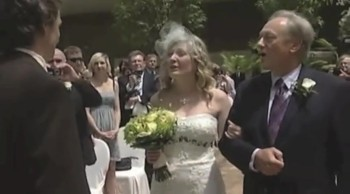 Bride Sings to Her Groom as She Walks Down the Aisle - Beautiful Moment!