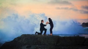 A Romantic Beachside Proposal Has a Funny Ending!
