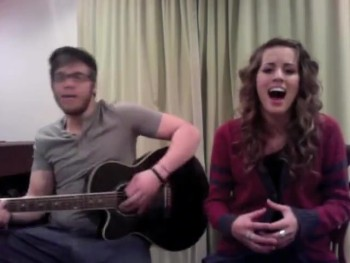 American Idol Contestant Angie Miller and Her Brother Sing a Worship Song!