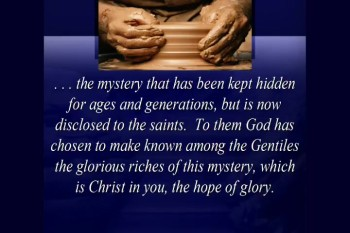 The Mysteries of God - 3/17/2013
