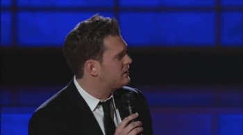 Michael Bublé Gets a Fun Surprise While Performing