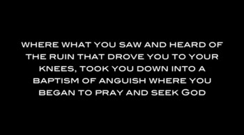 A heartwarming preach from David Wilkerson 'A Call to Anguish'