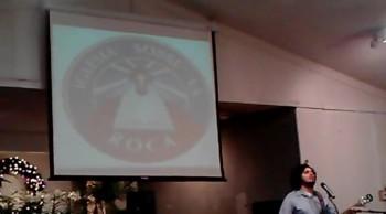 Jose Ruiz singing an Original Song at Iglesia Sobre La Roca in Garland, TX