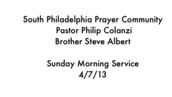 SPPC Sunday Morning Service - 4/7/13