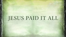 Newsboys - Jesus Paid it All (Official Lyric Video)