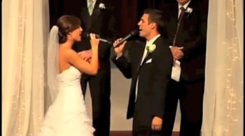 Talented Bride and Groom Sing God Made You To Each Other