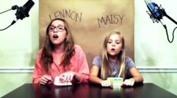 Lennon and Maisy singing 'Call your Girlfriend'