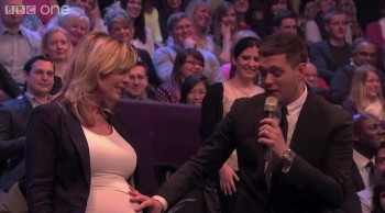 Michael Bublé Sings to Baby in Belly - So Sweet!