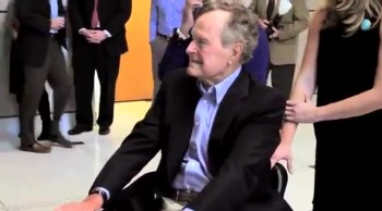 Texas Students Delight President George Bush With a Surprise Flash Mob