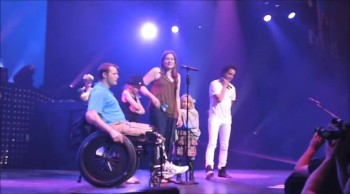 Wounded Solider and Wife Renew Vows at a Train Concert - Romantic!