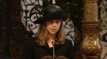 Thatcher Granddaughter Steals the Show At Funeral With Ephesians Reading