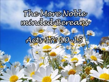 The More Noble Minded Bereans