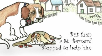 Rebecca Darrington-Doodletoot- A Happy Little Basset Hound Dog Meets a True Neighbor