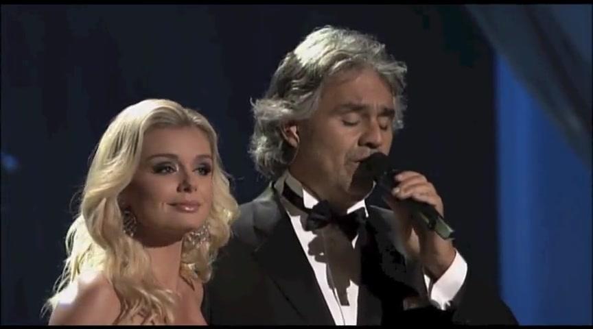 Andrea Bocelli and Katherine Jenkins Sing I Believe