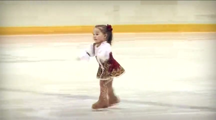2 year old girl is an excellent ice skater amazing cute videos