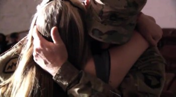 Sweet, Emotional Reaction of Daughter Surprised by Her Soldier Dad