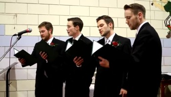 Groom Surprises Bride With a Barber Shop Quartet - and He Wrote the Song!