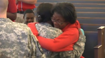 Military Single Mom Surprises Daughter at School!