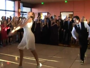 Bride and Groom Dazzle Guests With an Awesome Swing Dance!