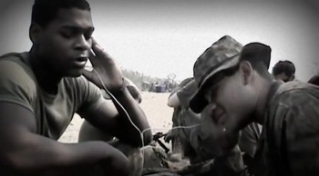 Deployed Soldiers Sing Amazing Grace