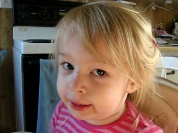Adorable Little Tot Sings The Lord's Prayer