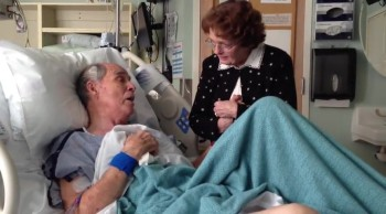 Elderly Man in Hospital Bed and Wife Sing You Are My Sunshine - 66 Years of TRUE LOVE!