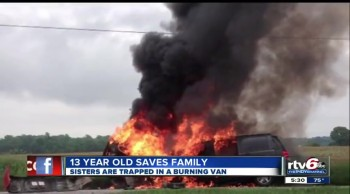 Teen Rescues His Family From a Burning Van - But Gives ALL Credit to God!