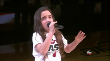 Little Girl Stuns NBA Arena With Her National Anthem Performance