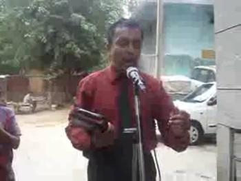 Gospel open air preaching by evangelist Hemant daughter Glory Daniels