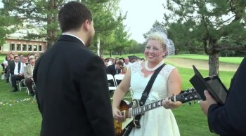 Christian Bride Sings Her Vows to Her Groom - So Sweet!