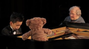 5 Year-Old Piano Prodigy Plays for His Special 101 Year-Old Friend - INCREDIBLY SWEET
