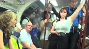 Talented Vocalists Sing During Subway Commute