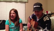 Father and Daughter Perform an Amazing Adele Song Together - What a Sweet Pair!