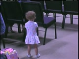 "One and a half year old Dancing to ""Walk By Faith"""