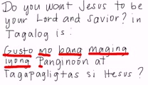 Tagalog - Do You Want Jesus to be Your Lord and Savior?