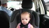 Baby Sings Her Heart Out to Elvis in the Car - ADORABLE!