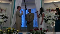 "Bride and Groom Sings Touching Duet -""When God Made You"""