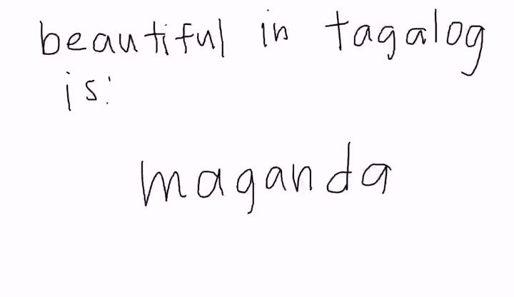 Tagalog - Beautiful - Education Videos