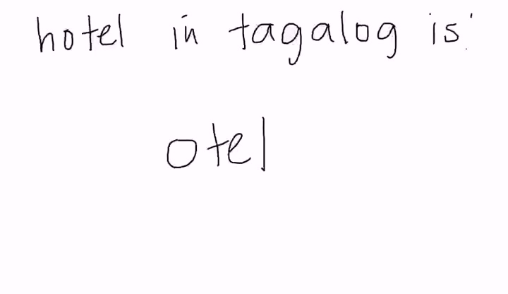 Tagalog - Hotel - Education Videos