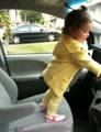 Toddler Has a Dance Party in the Car