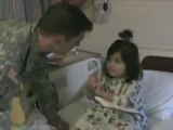 Soldier Surprises His Little Girl in the Hospital
