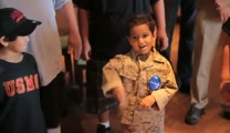 Marines Fulfills AWESOME Make a Wish For Little Boy